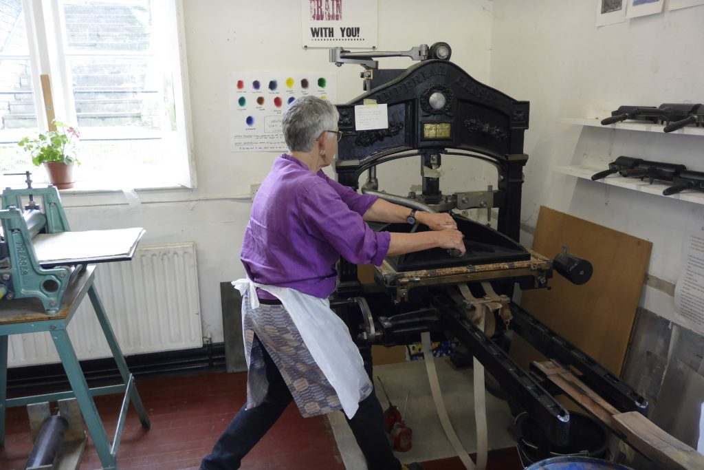 Relief printing at WYPW