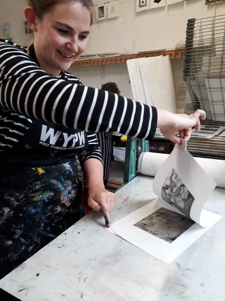 Printmaking in the workshop