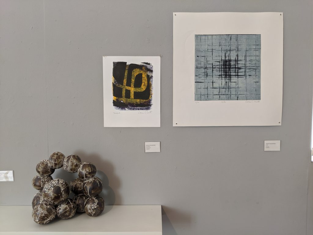 Sculpture and prints by Victoria Ferrand Scott, the Yorkshire Sculptors Group exhibition