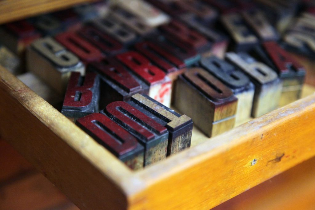 Letterpress type at WYPW