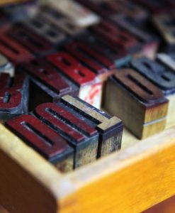 Letterpress type at WYPW