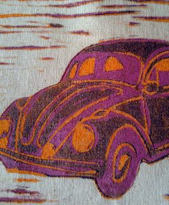 Example of a linoprint on textiles