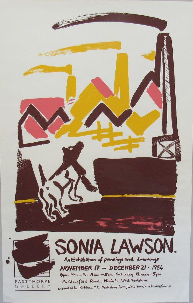 Eastthorpe Gallery, screen printed poster. 1984