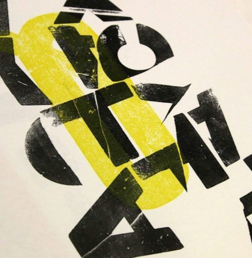 An experiment with Letterpress on paper