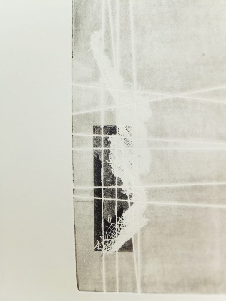 Maggie Thompson, Steel etching on paper