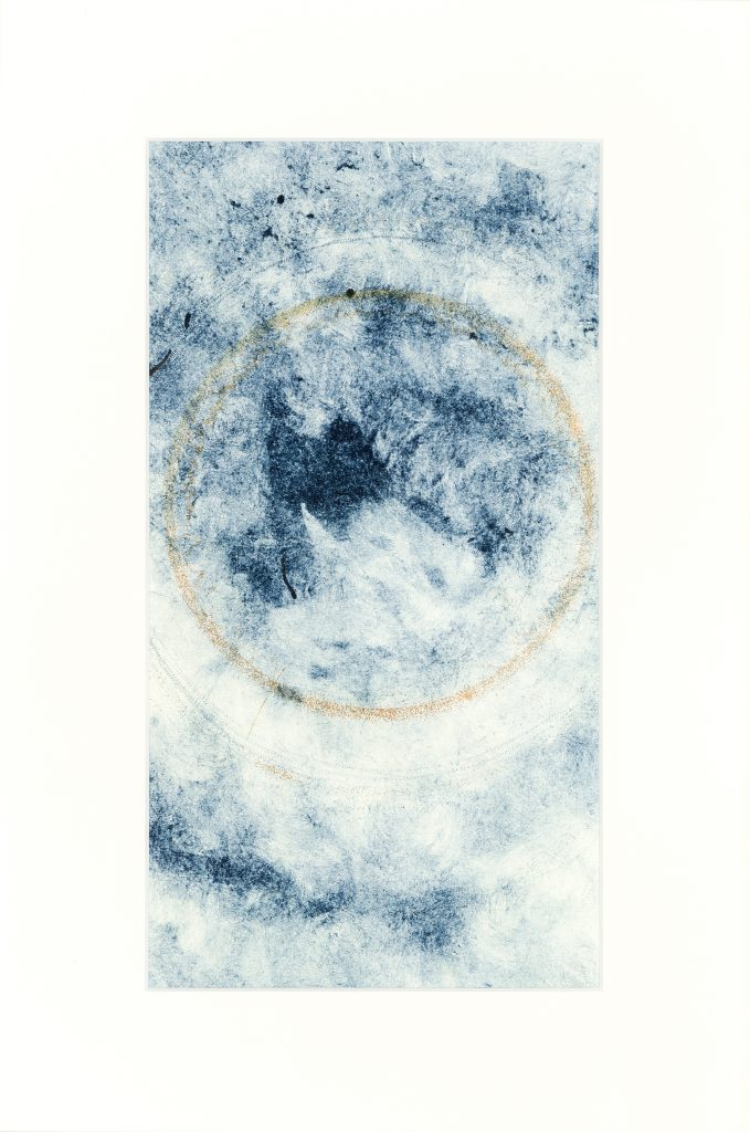 Etching, monotype on paper