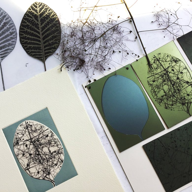 Print samples/experiments on paper, metal and acetate