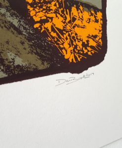Shipley Glen screen print by Dan Booth (close up of signature)