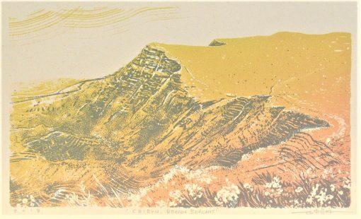 Graham Pilling, Cribyn, Brecon Beacons, Screen print