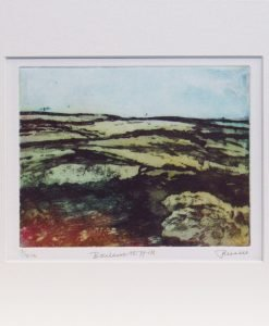June Russell, Boulsworth Hill, Etching