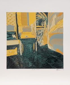 Scarlette Averley, Brook Street, Reduction Lino Cut