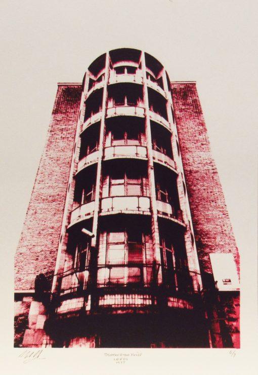 Martin Copland, Brotherton House, Leeds, Screen print