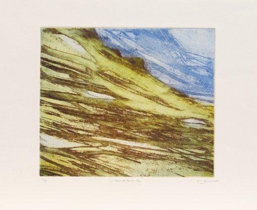 June Russell, Cloudbank, Etching
