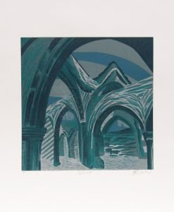 Scarlette Averley, Heptonstall, Reduction Lino Cut