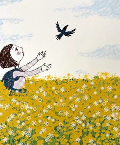 Lisa Stubbs, Free as a bird, Screen print