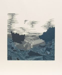 Scarlette Averley, Malham Cove, Reduction Lino Cut