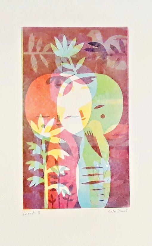 Lisa Stubbs, Friends II, Monoprint