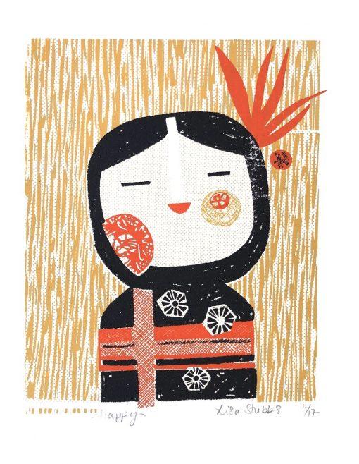 Lisa Stubbs, Happy, Screen print
