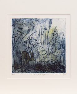 Suiz Thompson, A Way Through, Collagraph and drypoint