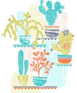 caroline pratt cacti screen print