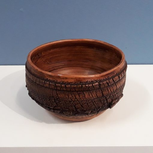 Large Terracotta Wax pot by Dave Helm