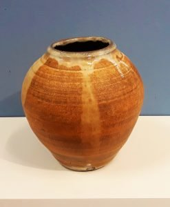 Moon jar 1, variegated slip by Dave Helm