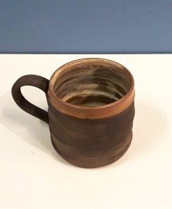 Ceramic Mocha mug by Dave Helm, 8cm high.