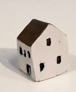 Tiny House 11 by Dave Helm, hand painted ceramic house