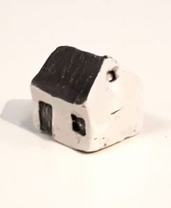 Tiny House 12 by Dave Helm, hand painted ceramic house