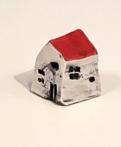 Tiny House 13 by Dave Helm, hand painted ceramic house