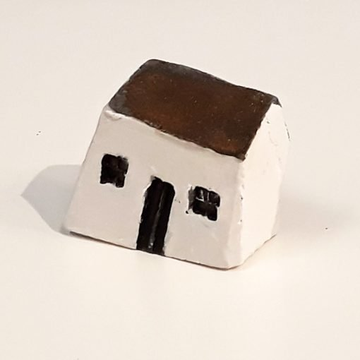Tiny House 14 by Dave Helm, hand painted ceramic house