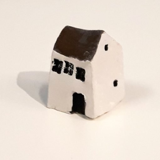 Tiny House 15 by Dave Helm, hand painted ceramic house