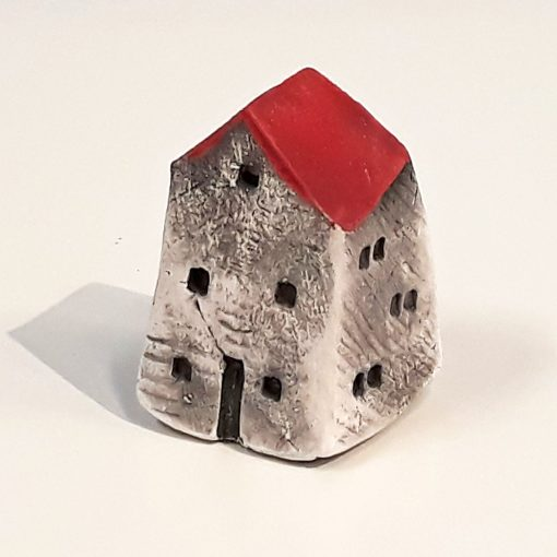 Tiny House 16 by Dave Helm, hand painted ceramic house