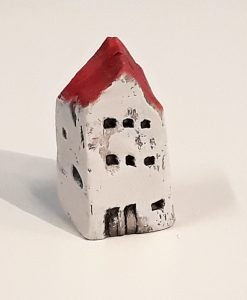 Tiny House 17 by Dave Helm, hand painted ceramic house