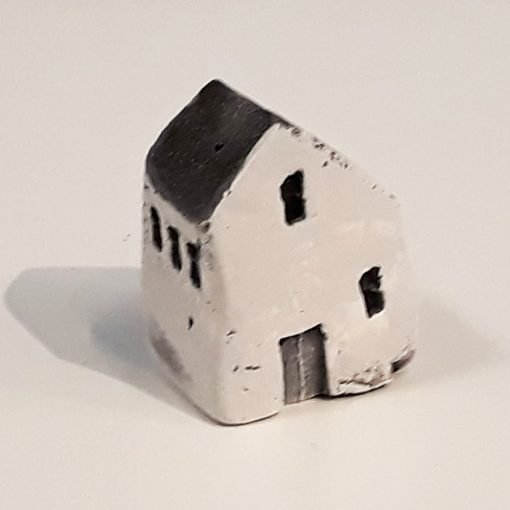 Tiny House 18 by Dave Helm, hand painted ceramic house