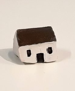 Tiny House 19 by Dave Helm, hand painted ceramic house