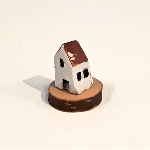 Tiny House 21 by Dave Helm, hand painted ceramic house