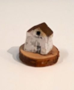 Tiny House 23 by Dave Helm, hand painted ceramic house