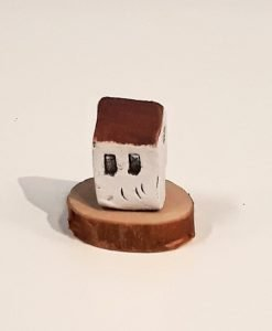 Tiny House 27 by Dave Helm, hand painted ceramic house
