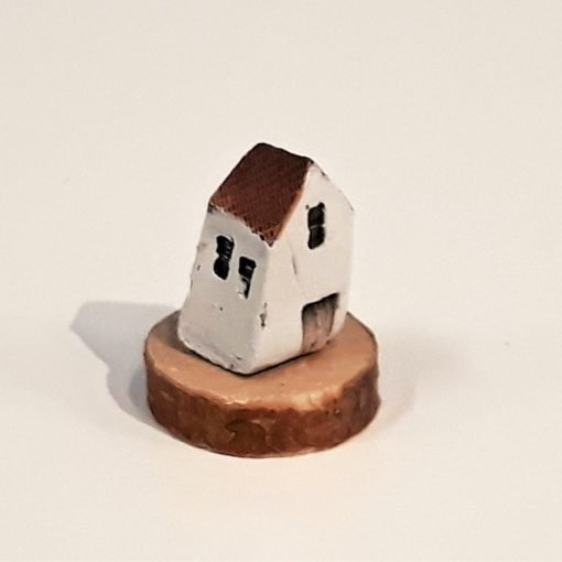 Tiny House 28 by Dave Helm, hand painted ceramic house