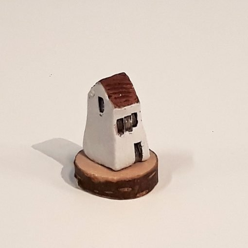 Tiny House 29 by Dave Helm, hand painted ceramic house