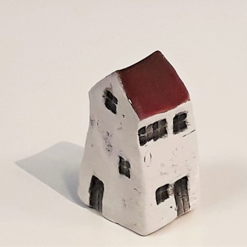 Tiny House 4 by Dave Helm, hand painted ceramic house
