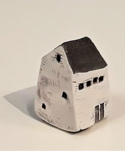 Tiny House 5 by Dave Helm, hand painted ceramic house