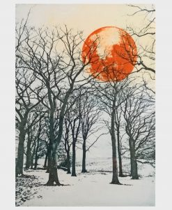 'Harvest Moon Walk' Solar plate etching by Irena Przybyl