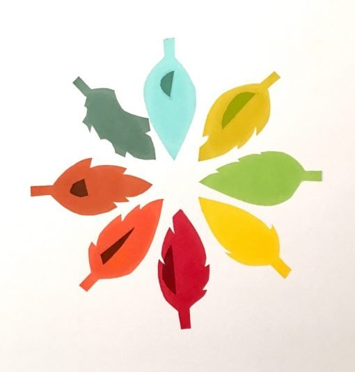 Leaf Cycle III by Kathryn Fox - 8 colour screen print
