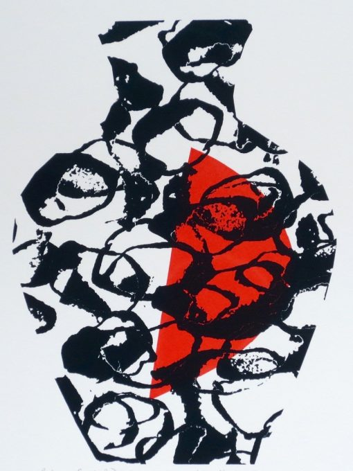 'Body and Soul, Red', screen print by Kathryn Fox