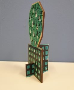 Samantha Groom small cactus sculpture - side view