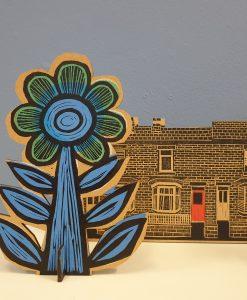 Samantha Groom flower and terraced houses