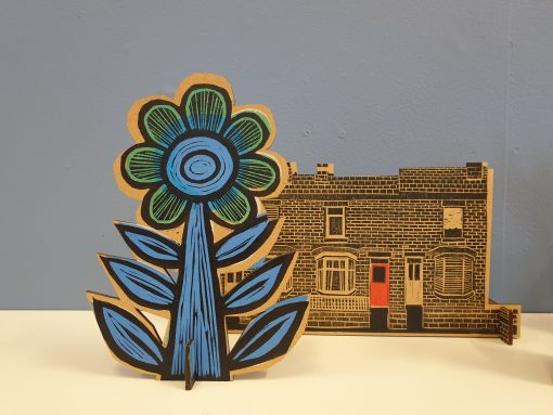 Samantha Groom flower and terraced houses