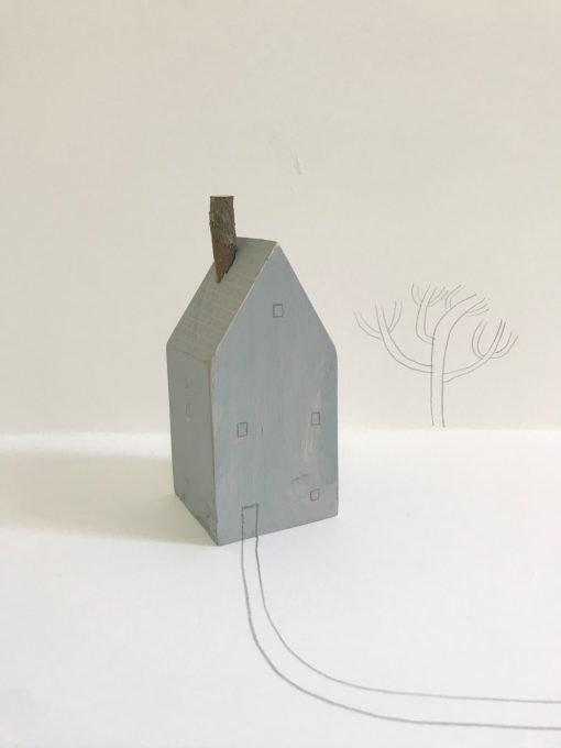 Janine Burrows Blue 1 Huis sculpture